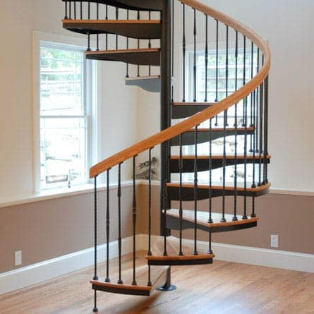 residential forged iron spiral staircase