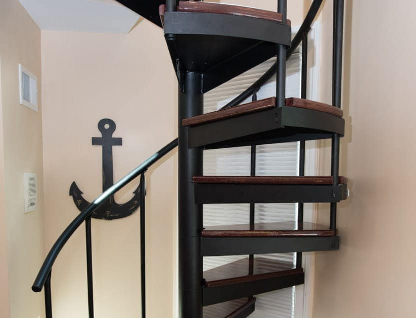 simple frame steel spiral staircase