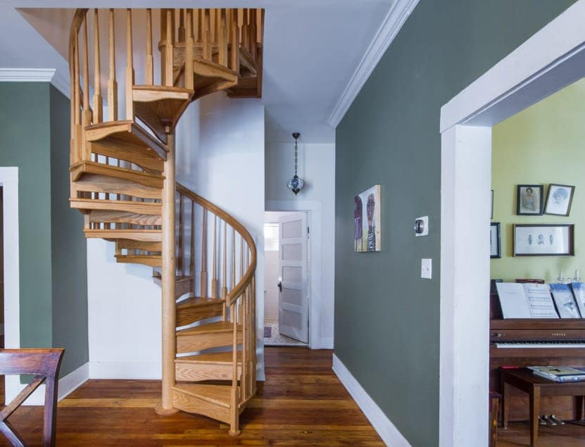 residential all wood spiral staircase