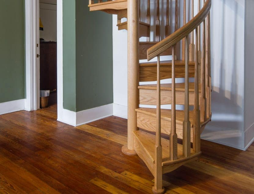small footprint for residential wood stair