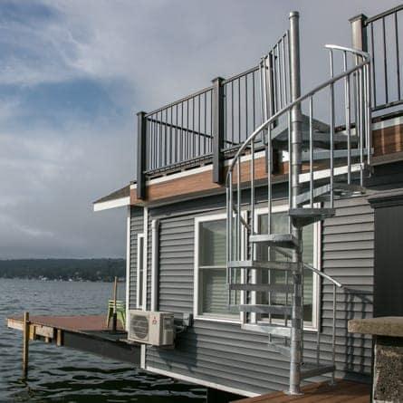 Dock Galvanized Spiral Staircase