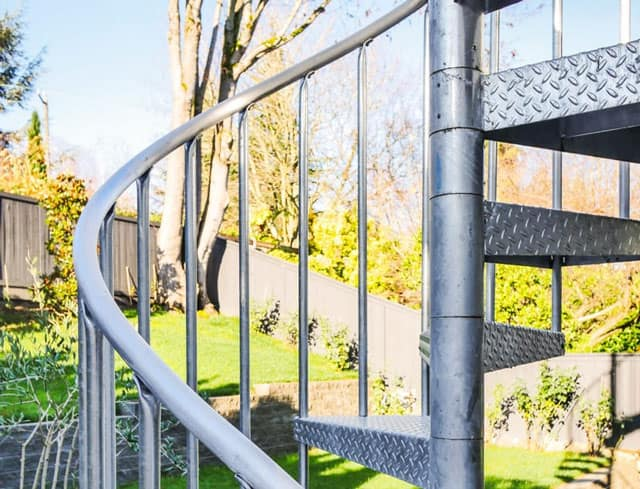 continuous sleeve outdoor spiral staircase