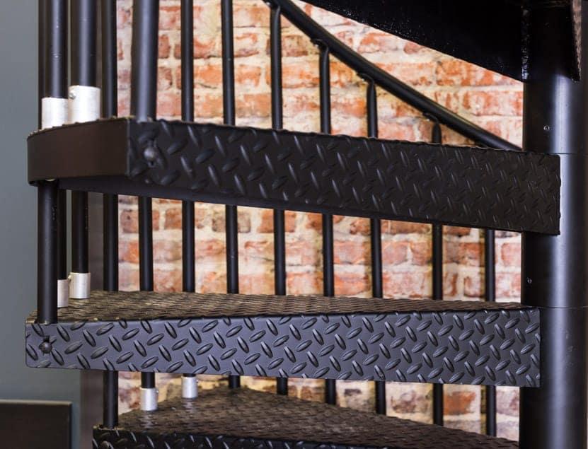 textured non slip steel steps