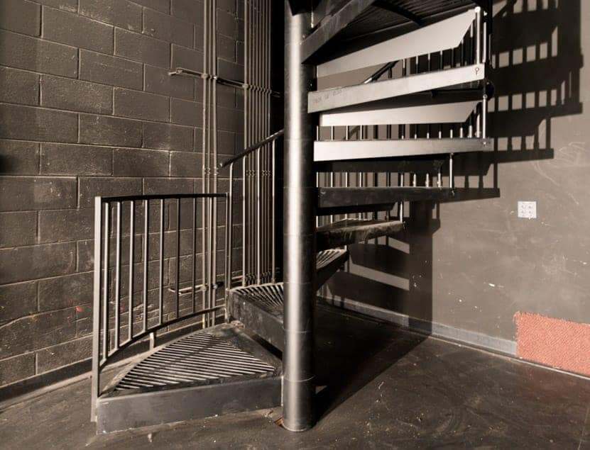 code compliant industrial steel staircase