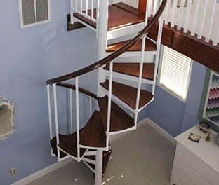 Open Frame Steel Spiral Staircase