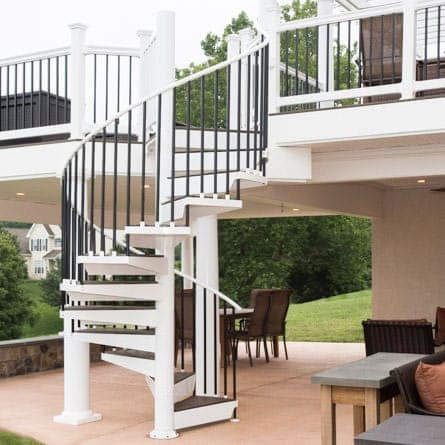 Attractive Outdoor Living Space With Spiral Stair