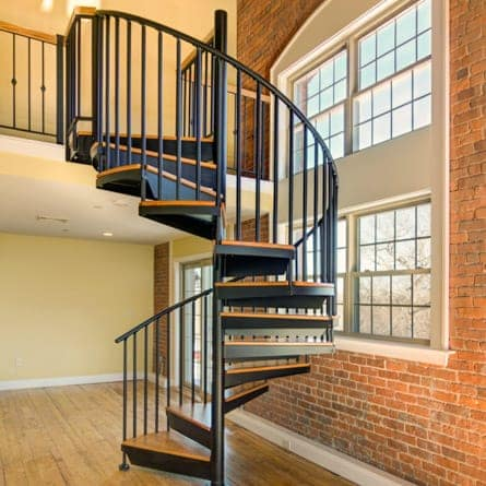 City Condo Spiral Staircase