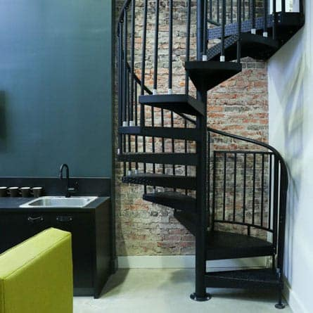 urban office spiral staircase