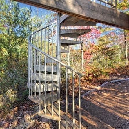 weatherproof zip line galvanized spiral stair