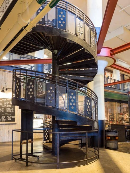 ponce city market spiral staircase