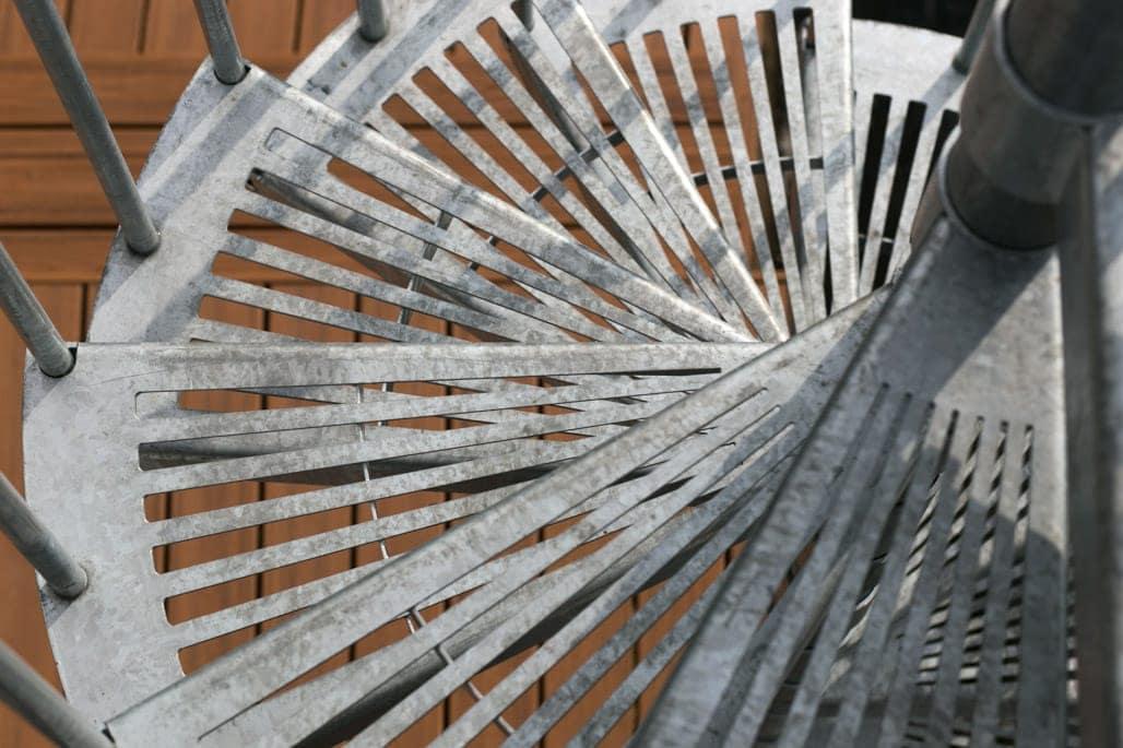 fan cut grated galvanized steps