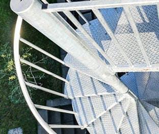 durable outdoor galvanized spiral stair