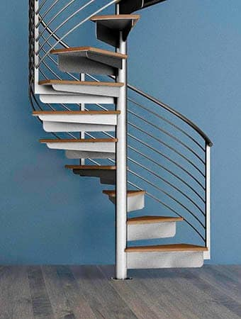 Staircase designs for every project budget paragon stairs - Exterior metal spiral staircase cost ...