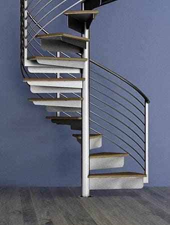 Custom Line Rail Spiral Staircase