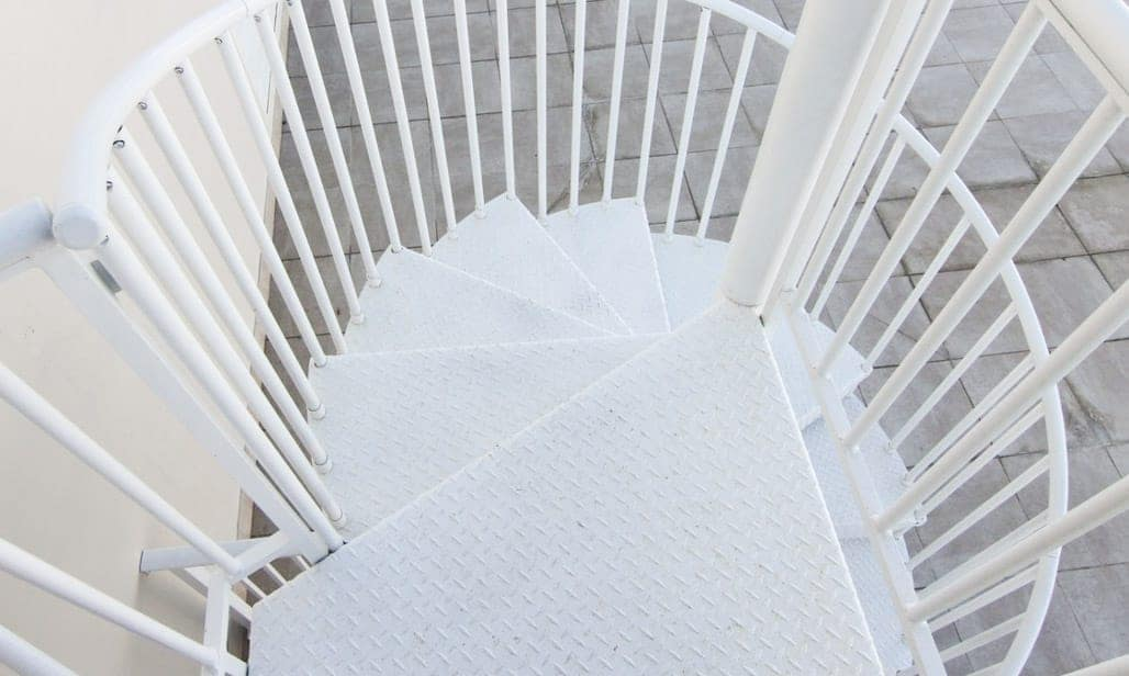 safe roof top deck spiral stair