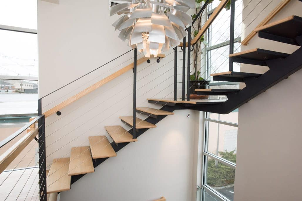 Mono Stringer Floating Staircase Project Gallery