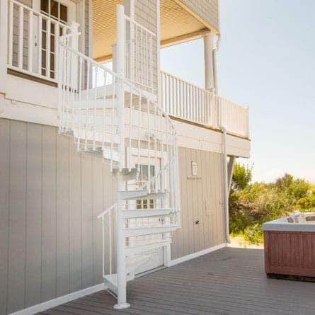 outdoor aluminum custom series spiral stair