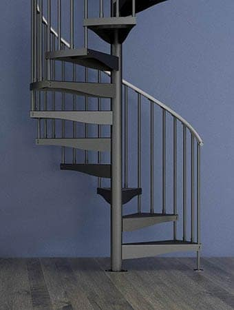 Improve your home with a spiral staircase paragon stairs - Exterior metal spiral staircase cost ...