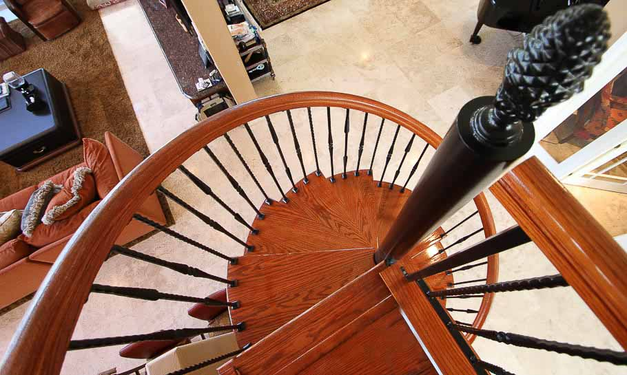 The tuscan spiral staircase forged iron for elegant for Build your own spiral staircase