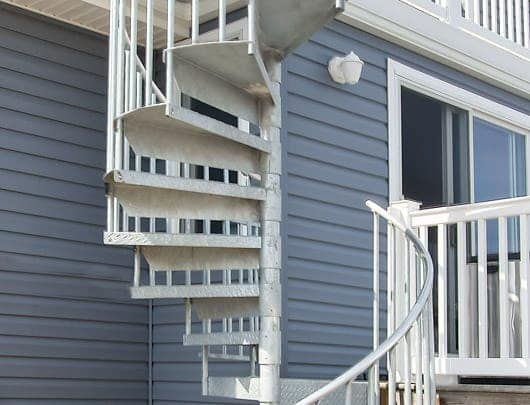 durable beach house galvanized steel spiral staircase