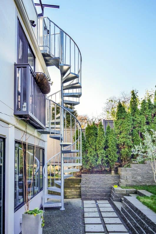 multi story galvanized spiral staircase