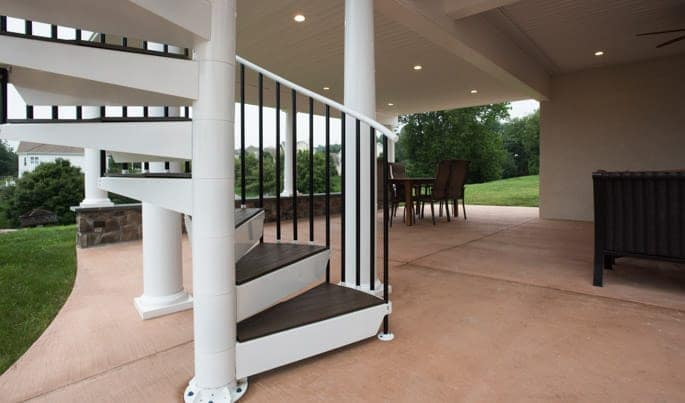 code compliant deck spiral staircase