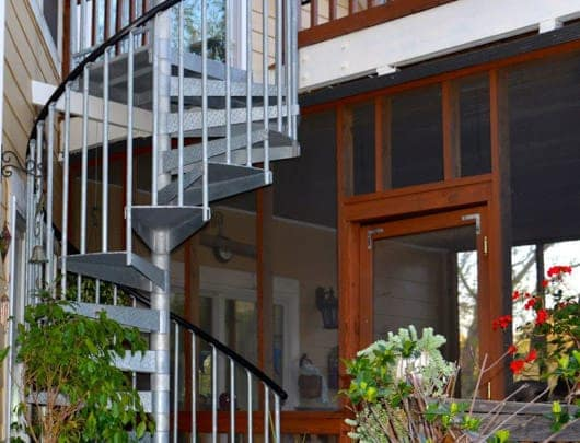 open end treads galvanized spiral staircase