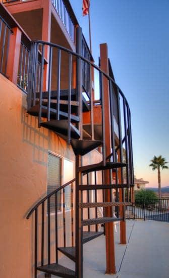aluminum spiral staircase kit deck