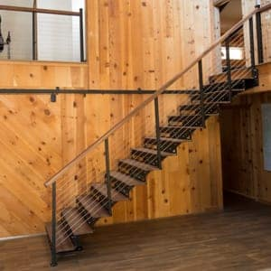 diy floating staircase