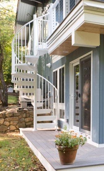 prefab aluminum spiral stairs