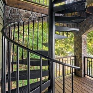 custom designed aluminum spiral staircase