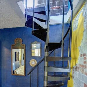 all metal spiral stairs to attic