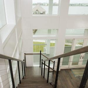 straight stairs to the attic