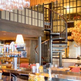 new york restaurant spiral staircase