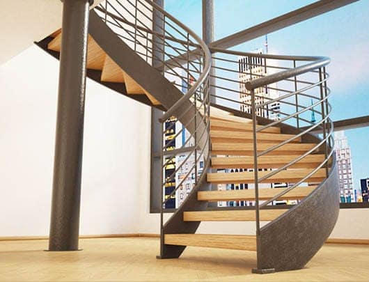 Awesome Discover Contemporary Metal Curved Stairs. U2039 U203a U201c
