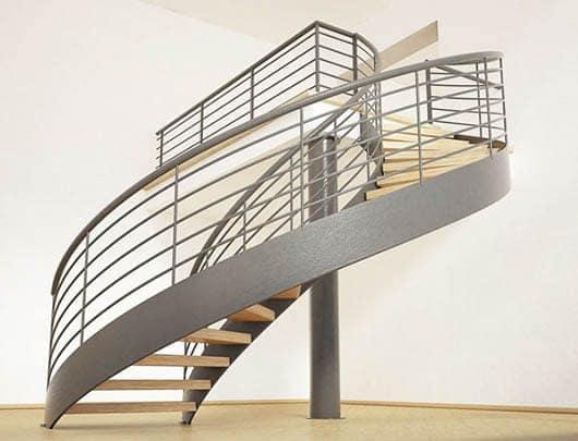 Discover Contemporary Metal Curved Stairs. U2039 U203a U201c