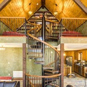 custom indoor spiral staircases