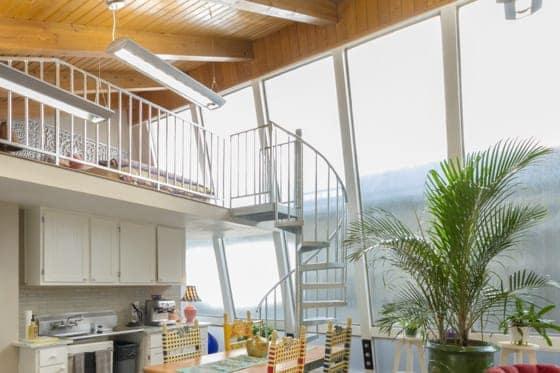 interior galvanized spiral stairs