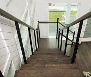 floating staircase to loft