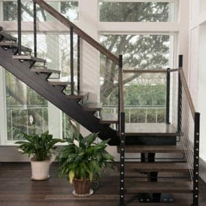 metal stringer floating stairs
