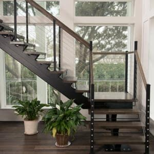 space maximizing floating stairs