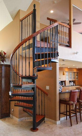Forged Iron spiral stair