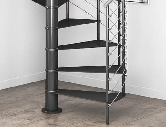 adjustable height staircase with spacers