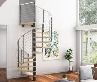 high quality material spiral stairs