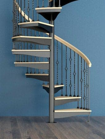 design to your budget forged iron spiral stair