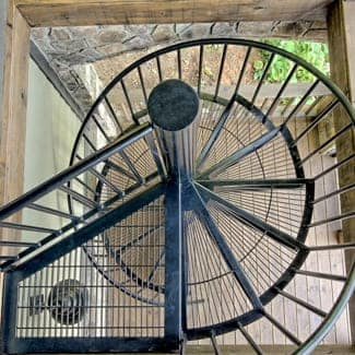 exterior spiral staircase safety features