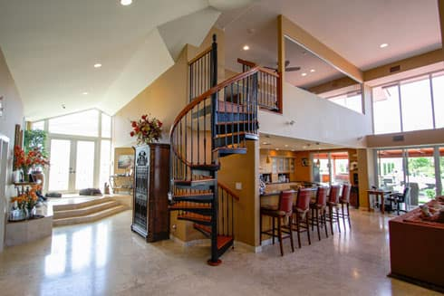 iron spiral staircase residential